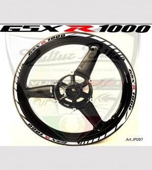 Customizable stickers for wheels - Suzuki GSX R 1000