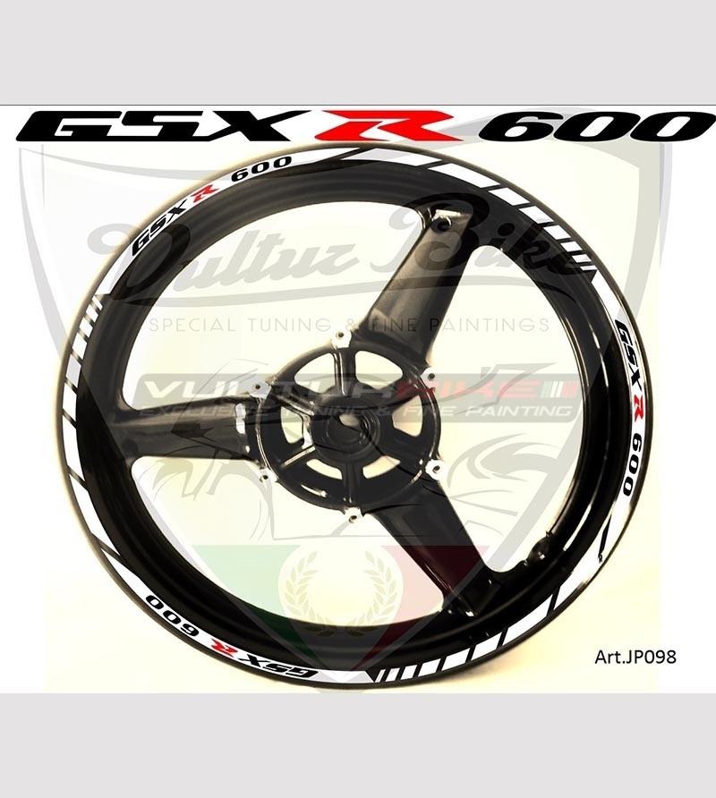 Adesivi personalizzabili per ruote - Suzuki GSX R 600
