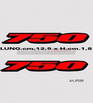 Adesivi per codino - Suzuki GSX R 750