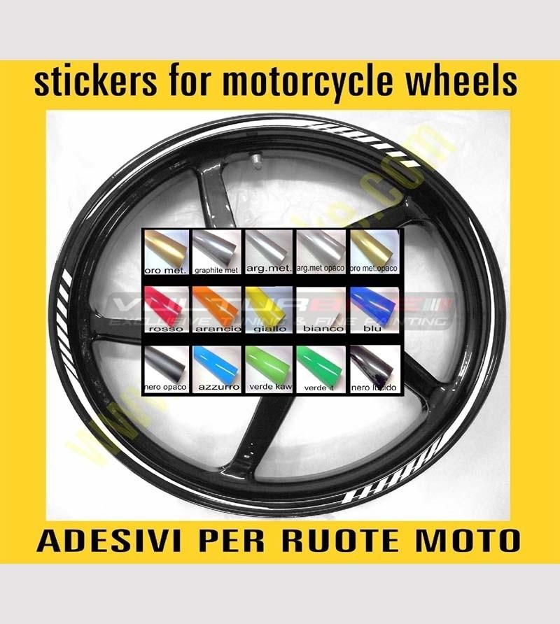 14 adesivi universali per ruote moto