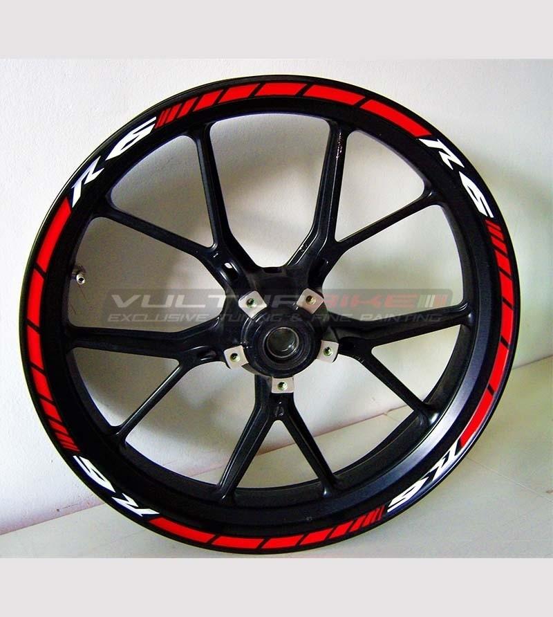 Pegatinas de ruedas personalizables - Yamaha R6