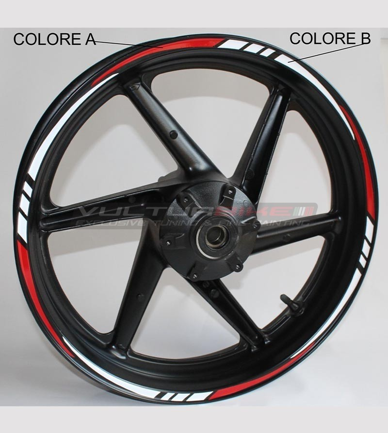 18 universal stickers for motorcycle's wheels
