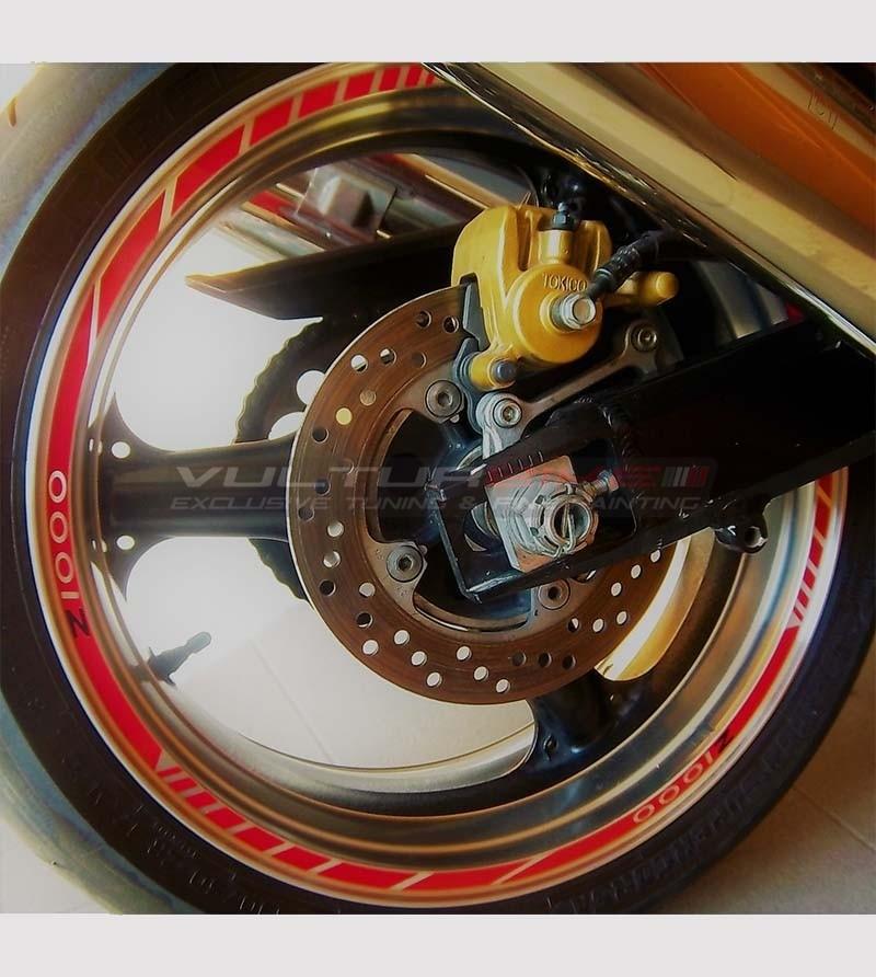 Kit de pegatinas para ruedas - Kawasaki Z 1000