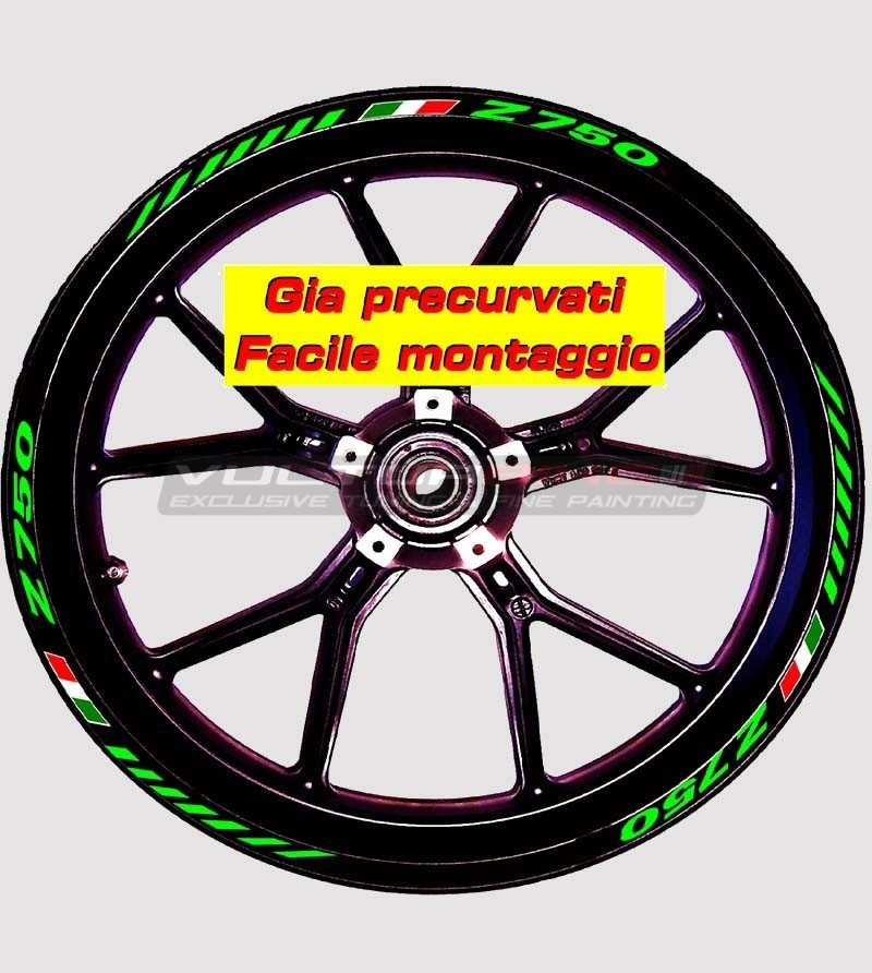 Pegatinas de ruedas - Kawasaki Z 750
