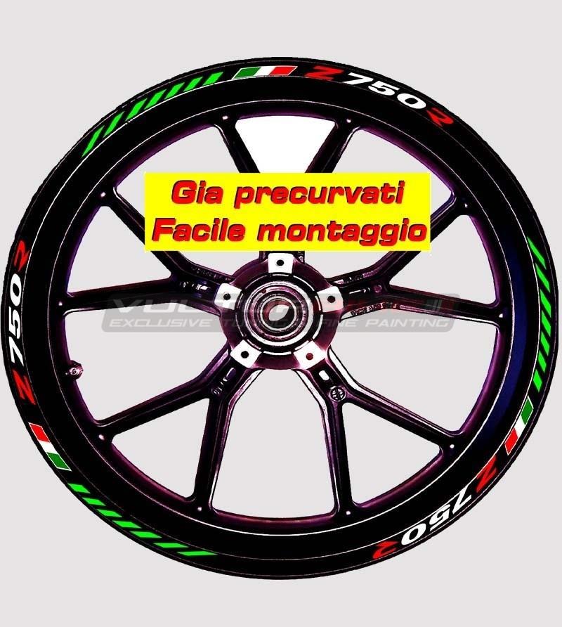 Stickers for wheels - Kawasaki Z 750 R