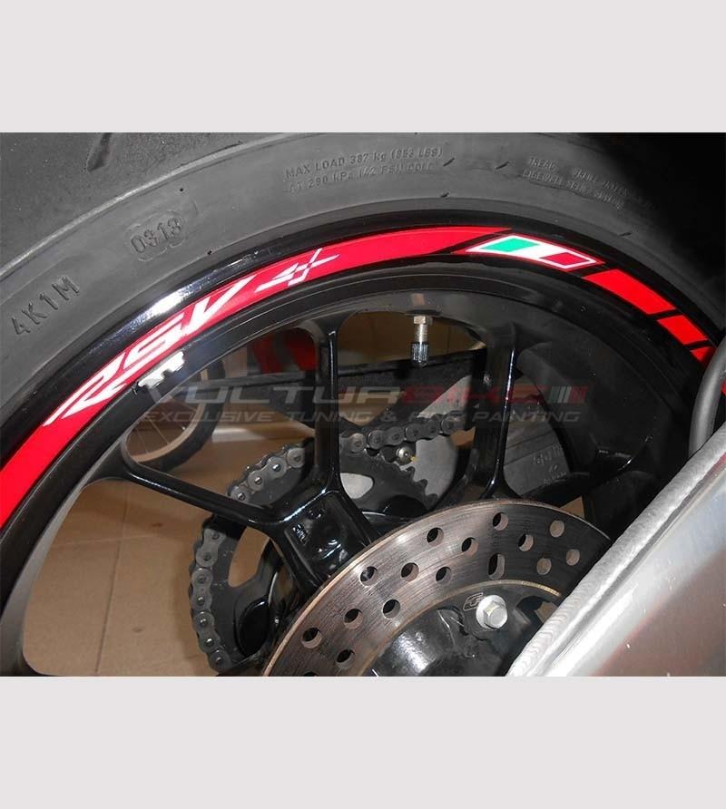 Customizable stickers for wheels - Aprilia RSV4