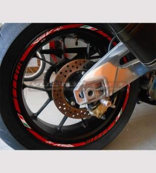 Adesivi personalizzabili per ruote - Aprilia RSV4