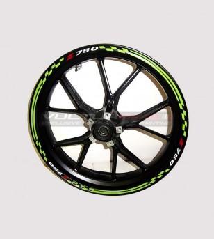 Adesivi per ruote verdi special design - Kawasaki Z 750