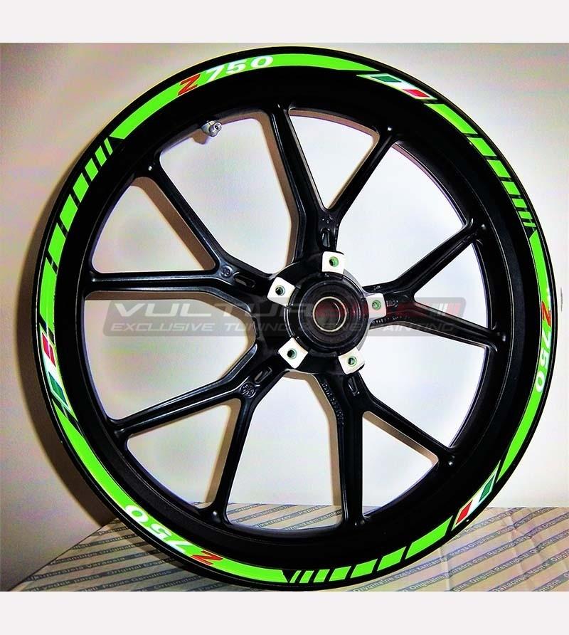 Pegatinas personalizables para el diseño exclusivo de ruedas - Kawasaki Z 750