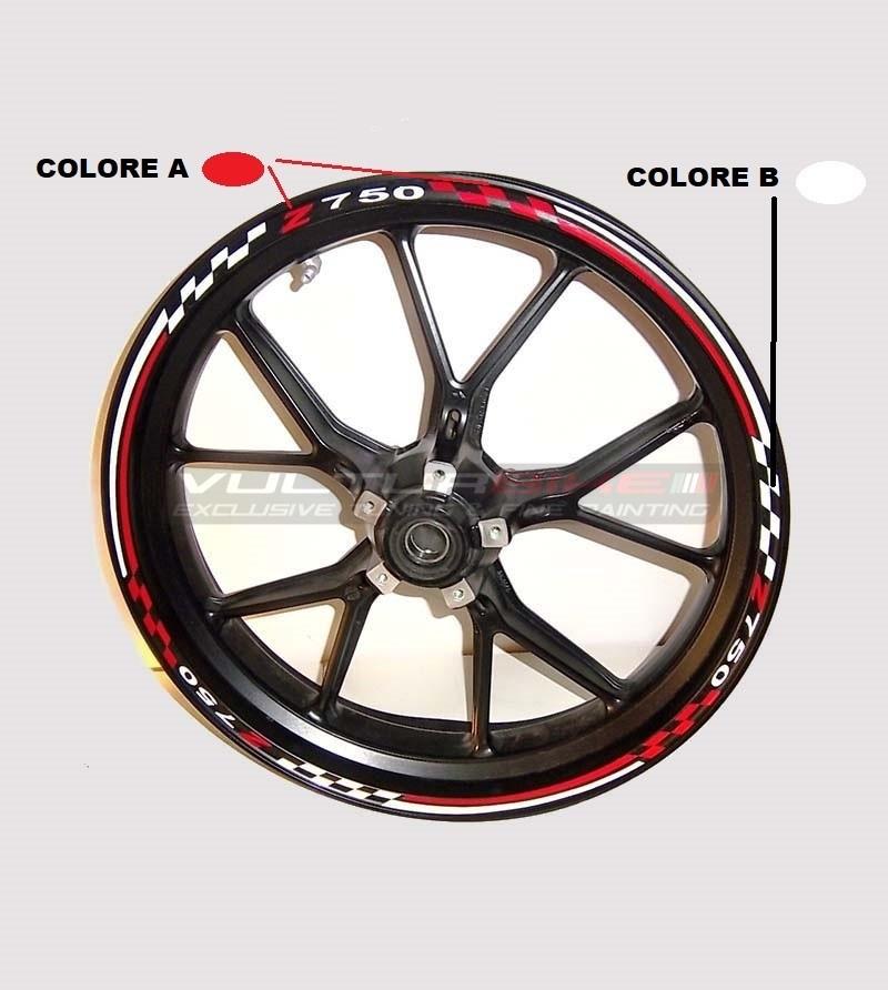 Customizable stickers for wheels special design - Kawasaki Z 750