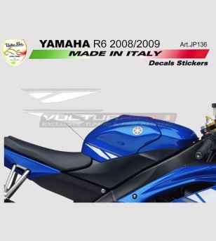 Tank's stickers white/graphite - Yamaha R6