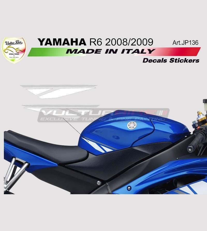 Adesivi per serbatoio bianco/graphite - Yamaha R6