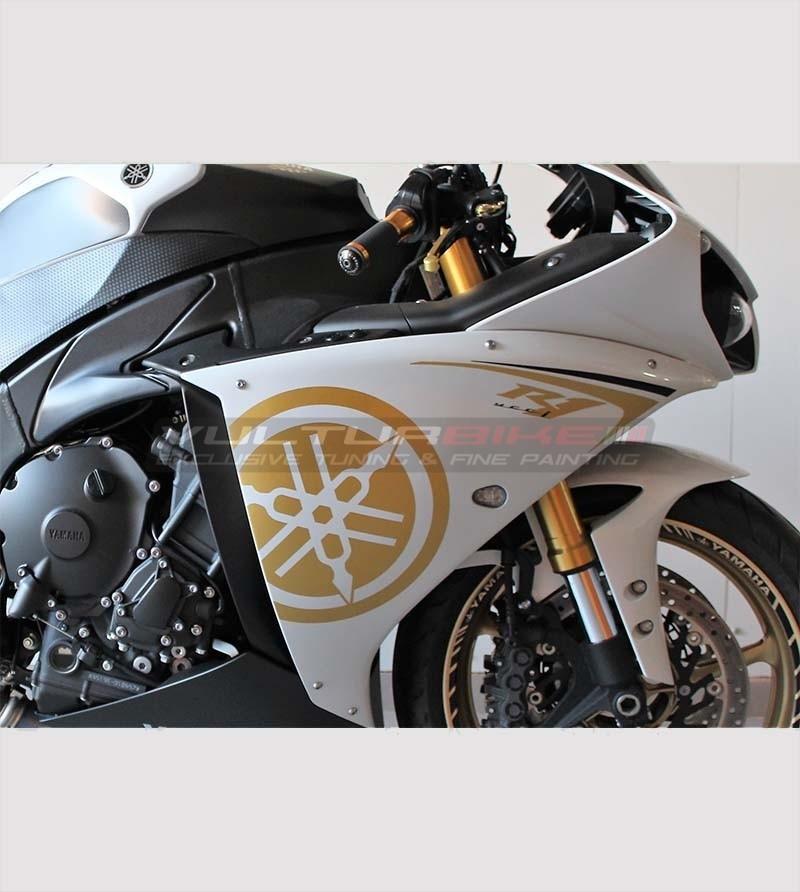 Adesivi per carene laterali oro - Yamaha R1 2009/14