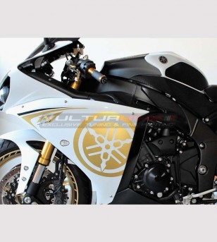 Side fairings' stickers gold - Yamaha R1 2009/14