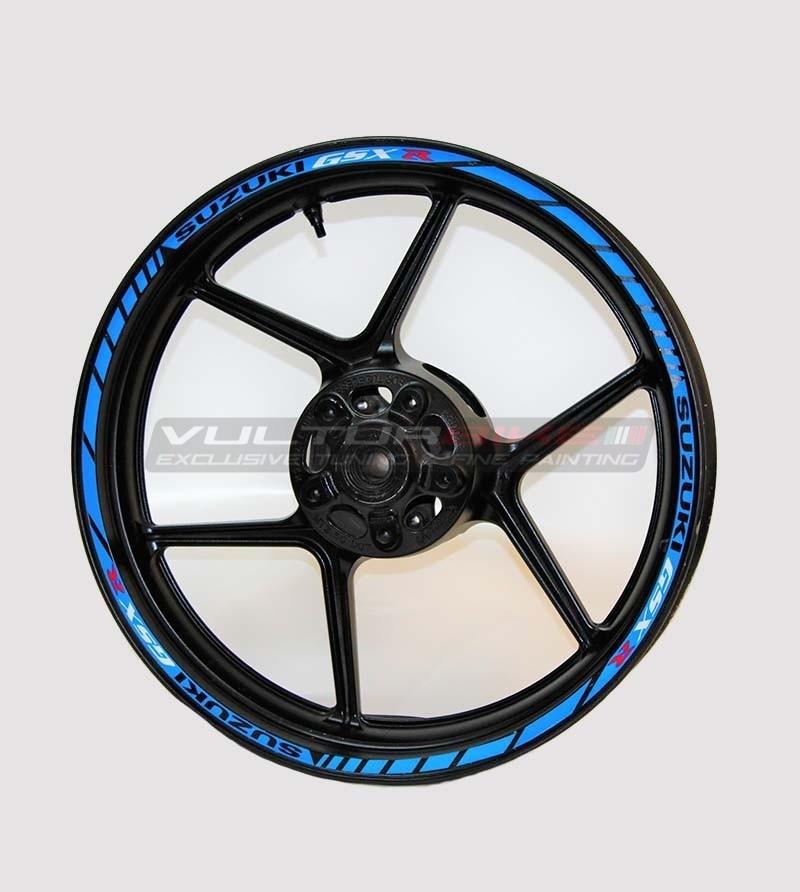 Colored stickers for wheels - Suzuki GSX R