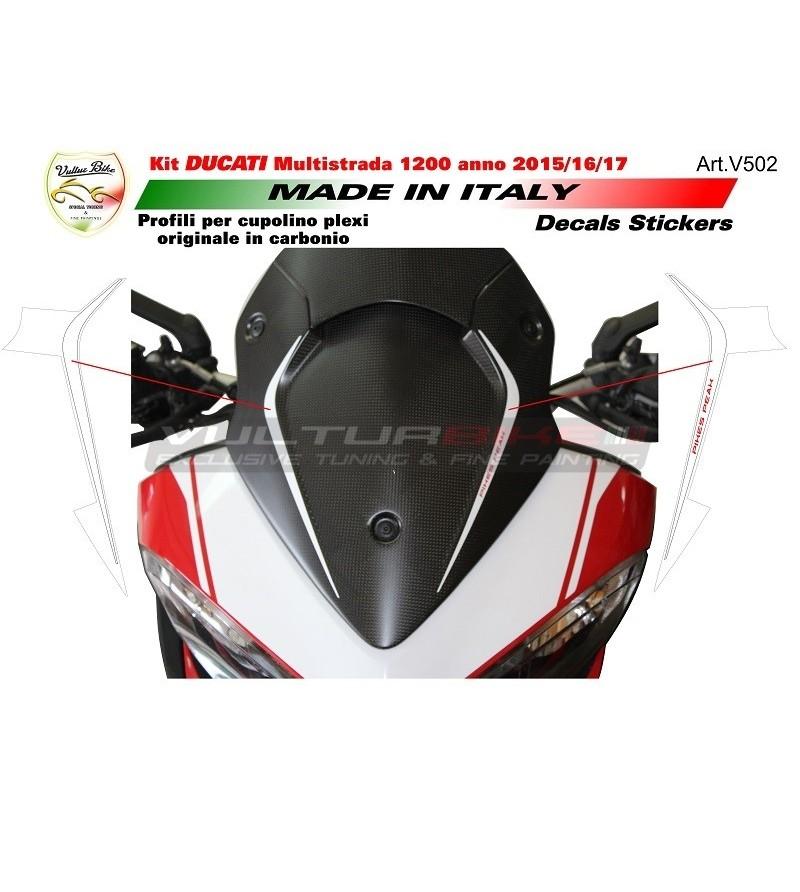 Adesivi per cupolino Pikes Peak - Ducati Multistrada 1200 dal 2015