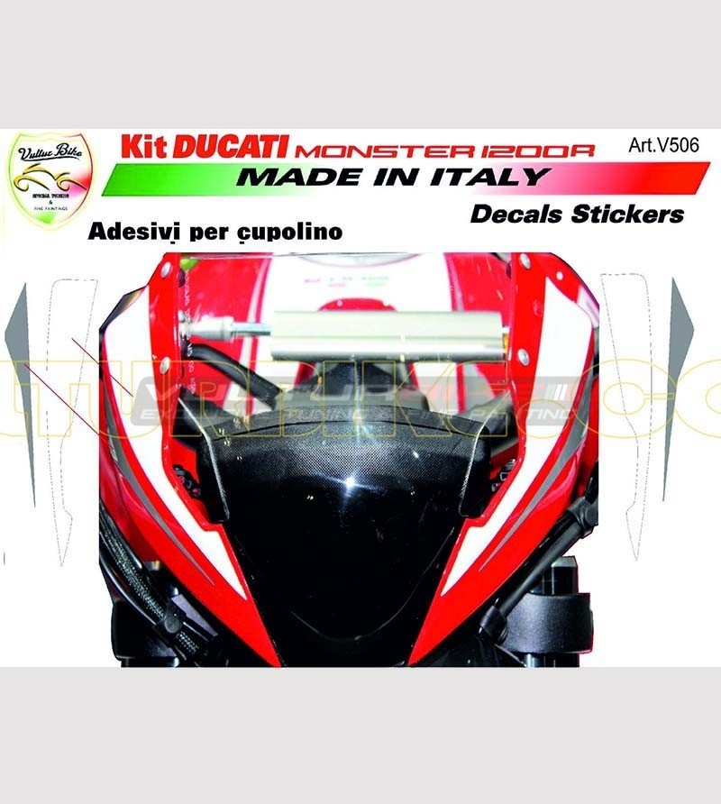 Front fairing stickers - Ducati Monster