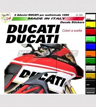 Pegatinas de colores para laterales - Ducati Multistrada 950/ 1200/ 1260