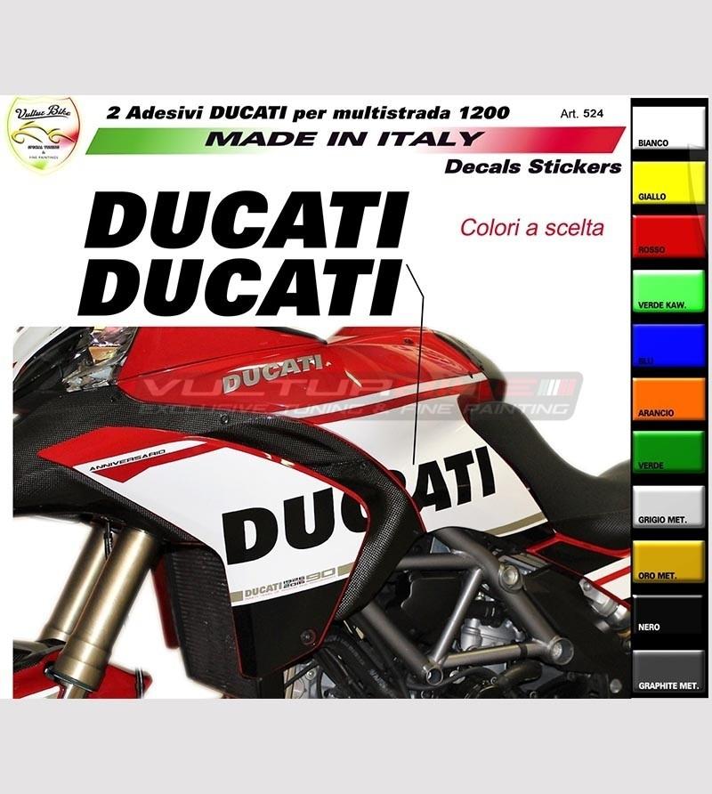 Colored stickers for side fairing - Ducati Multistrada 1200 2010/14