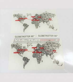 Stickers Globetrotter 90 TH various sizes - Ducati Multistrada 1200/1260
