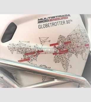Adesivi Globetrotter 90 TH varie misure - Ducati Multistrada 1200/1260