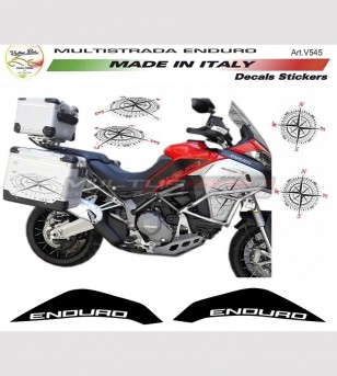 Stickers' kit with windrose - Ducati multistrada 1200 enduro