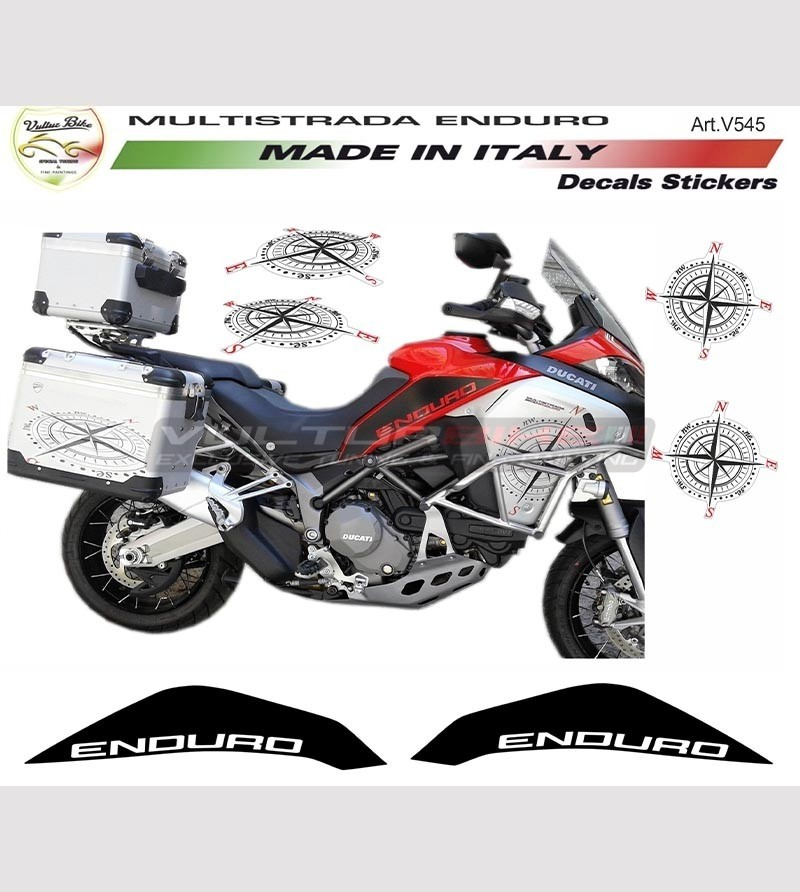 Kit adesivi decal stikers DUCATI MULTISTRADA 1200 ENDURO GLOBETROTTER 90TH