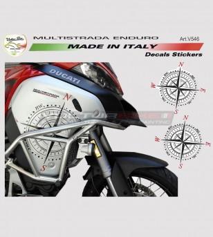 Pegatinas de viento rosa - Ducati multistrada 1200 enduro