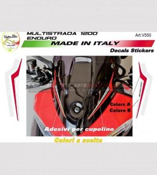 Adesivi personalizzabili Enduro per cupolino - Ducati Multistrada 1200 /1260 Enduro