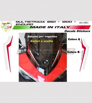 Customizable stickers Multistrada for front fairing - Ducati Multistrada 950/1200 DVT/1200 Enduro