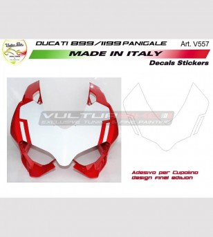 Pegatinas para la edición final del diseño de domo - Ducati Panigale 899 1199