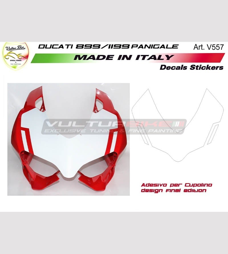 Front fairing's stickers design final edition - Ducati Panigale 899 1199