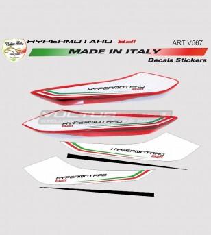 Pegatinas de cola de diseño personalizado - Ducati Hypermotard 821