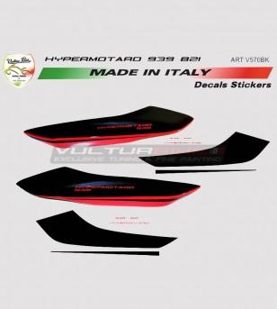Adesivi per fianchetti posteriori personalizzabili - Ducati Hypermotard 821/939