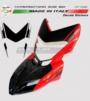 Customizable front fairing's stickers - Ducati Hypermotard 821/939
