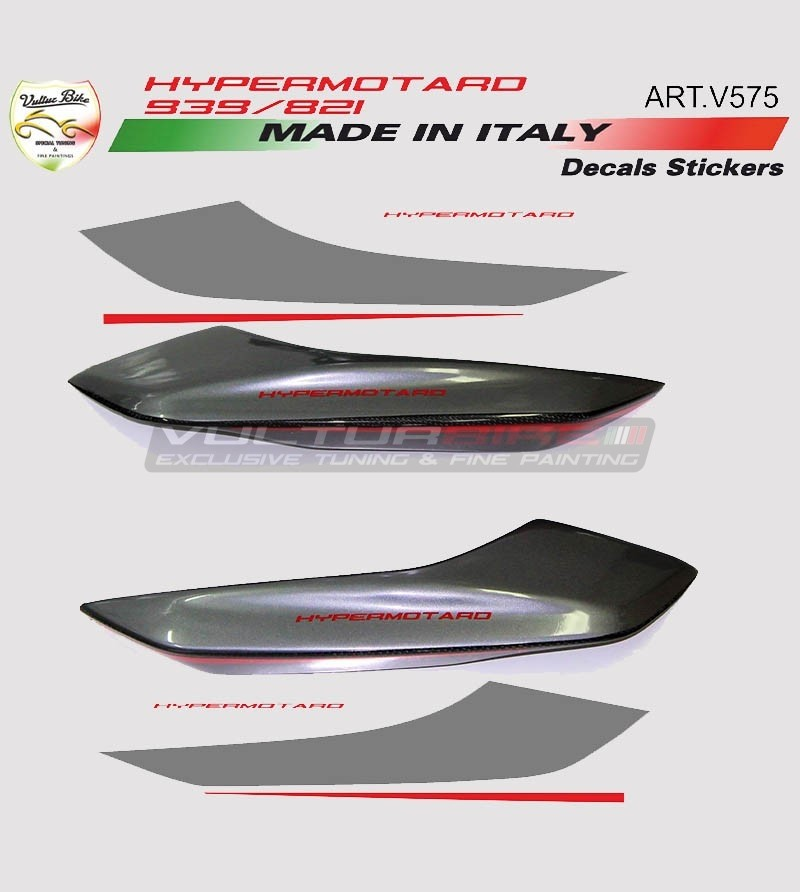 Tail's stickers graphite/red- Ducati Hypermotard 821/939