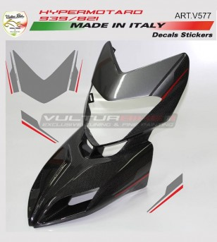Front fairing's stickers graphite/red- Ducati Hypermotard 821/939