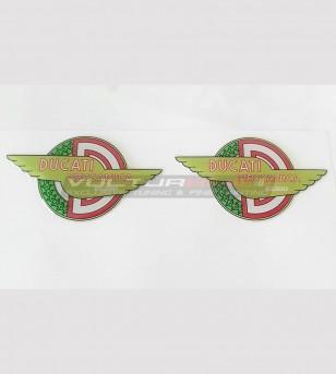 2 resinated stickers - Ducati Meccanica Bologna