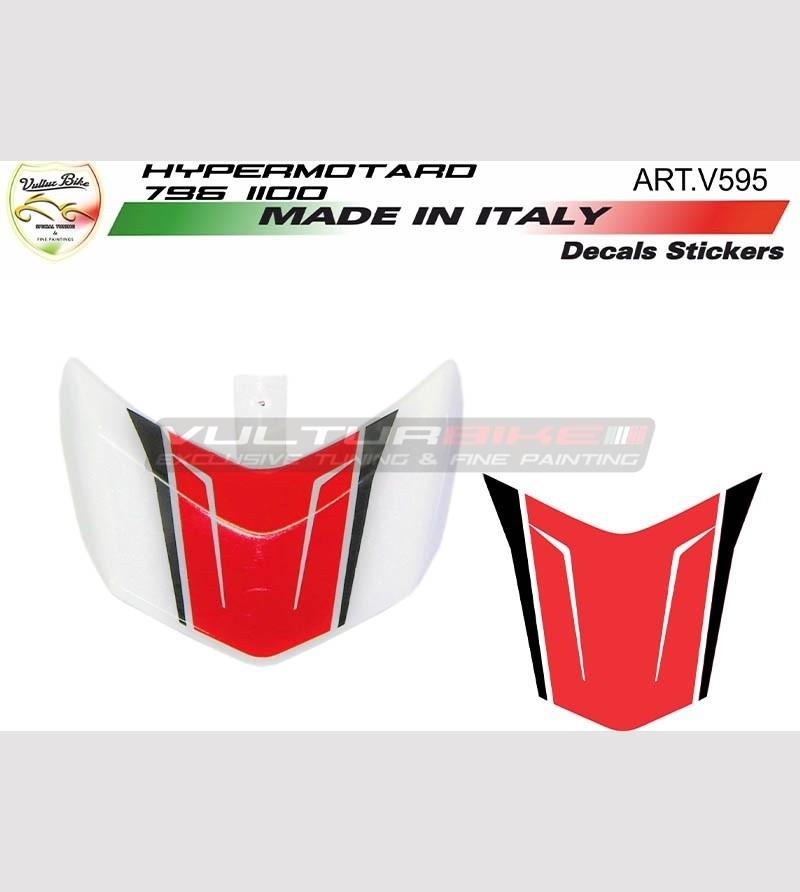 Spoiler's stickers white motorcycle - Ducati Hypermotard 796/1100