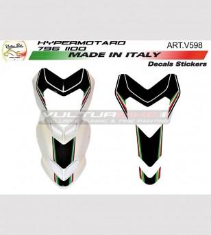 Adesivi b/w per cupolino moto bianca - Ducati Hypermotard 796/1100