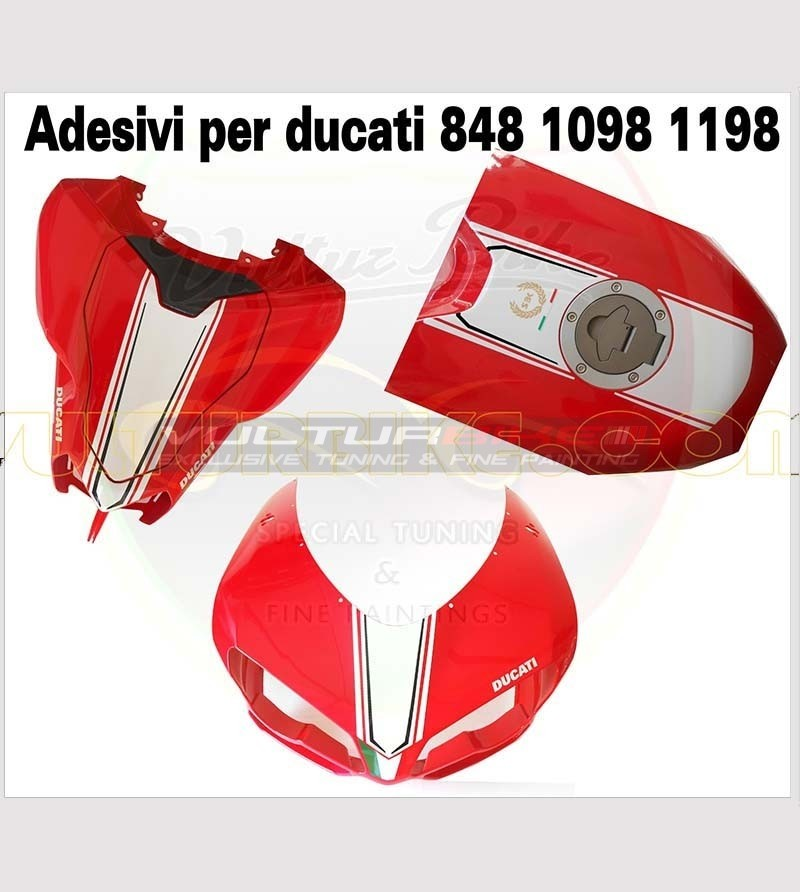 Kit de pegatinas de banda - Ducati 848/1098/1198