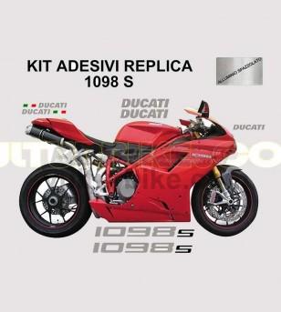 Kit adesivi originali replica colorati - Ducati 1098