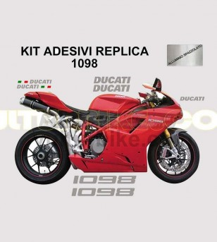 Original replica colored stickers' kit - Ducati 1098