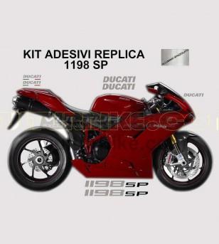 Kit adesivi originali replica colorati - Ducati 1198/1198S/1198SP