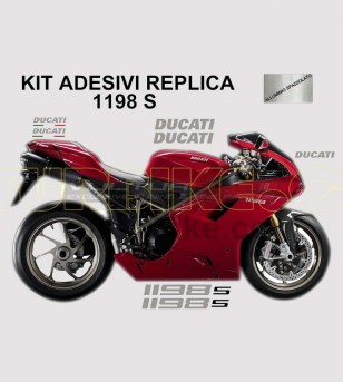 Original replica colored stickers' kit - Ducati 1198/1198S/1198SP