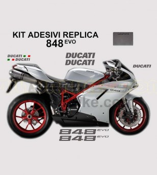 Original replica colored stickers' kit - Ducati 848/848evo