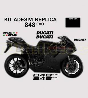 Kit adesivi originali replica colorati - Ducati 848/848evo