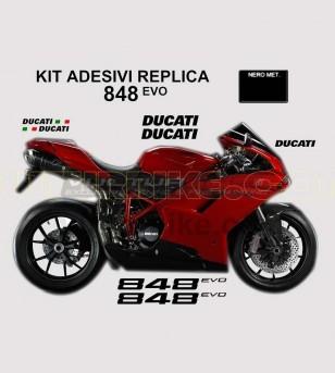 Kit de pegatinas réplica de color original - Ducati 848/848evo