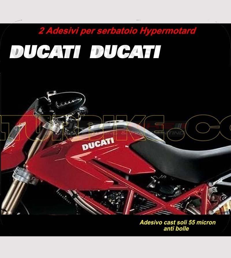 2 pegatinas de tanque - Ducati Hypermotard 796/1100