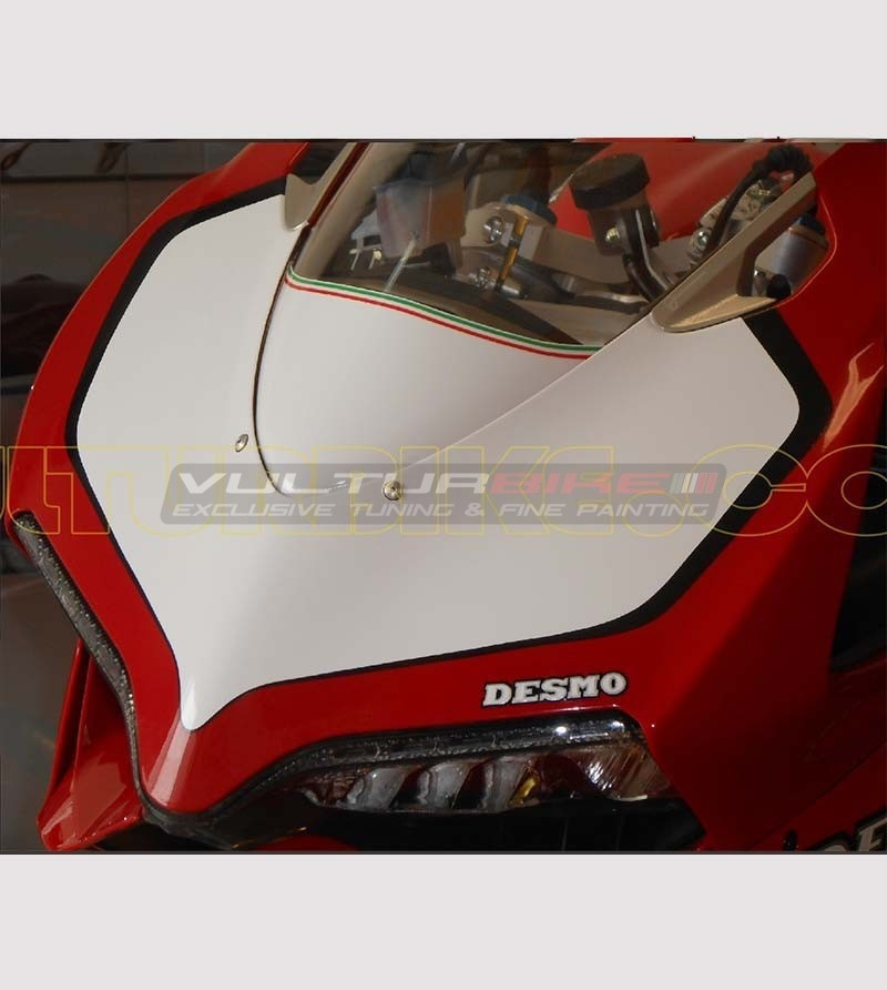 Number plate sticker White / black - Ducati Panigale 899/1199